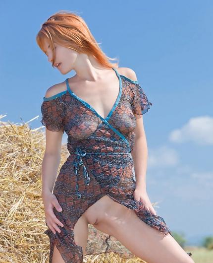 Sexy redhead Violla A