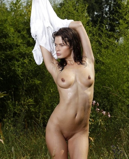 Magnolia naked outdoors