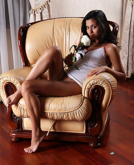 Bianca on chair