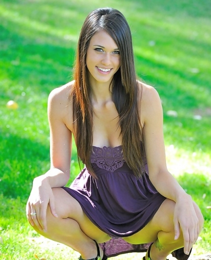 Tiffany Thompson In A Park At Erosberrycom The Best Erotica Online