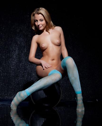 Nikia A blue socks