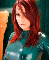 Bianca Beauchamp green latex