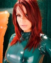 Bianca Beauchamp green latex