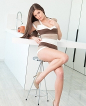 Little Caprice in the kitchen