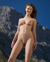 Susann in the mountains