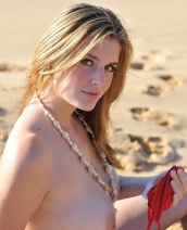 Danielle FTV red bikini