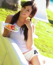 Catie Minx outdoors