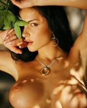 Katie Fey in a secret garden