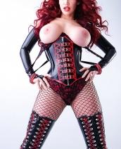 Bianca Beauchamp black corset