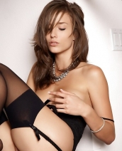 Malena Morgan black lingerie